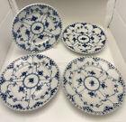 4 Plates #1086 - Blue Fluted - Royal Copenhagen - Full Lace - 1st Quality