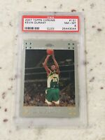 2007-08 Topps Chrome #131 Kevin Durant Rookie RC Supersonics Nets PSA 8 NM-MT