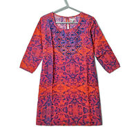New Ecote Urban Outfitters UO Mini dress tunic red ikat anthropologie Boho S