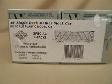 Ho Proto 2000 C&Nw Mather 40' Single Deck Stock Car (4-Pack) Kit