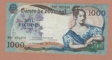 More details for p172b portugal 1000 escudos banknote 1967 in very fine condition