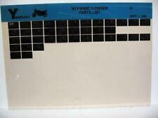Yamaha PW80 1993 PW80E Y-Zinger Parts List Manual Microfiche m71