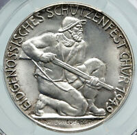 1949 SWITZERLAND Canton of CHUR Old Shooting Festival Swiss Silver Medal i87234