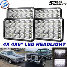 "4pcs 4x6"" LED Headlight Sealed Hi/Lo Beam H6451 H6456 For Chevy K10 K20 K30"