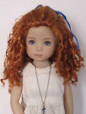 """perruque rousse boucles poupée moderne-Tête18/19cm-LD Ringlets doll wig sz7/8"""""""