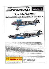 Xtra Decals 1/72 SPANISH CIVIL WAR NATIONALIST FIGHTER & GROUND ATTACK Part 2