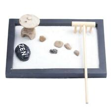 Mini Zen Garden Sand Kit Sand Rocks Rake Relax Spiritural Meditation Decor#4