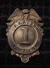 Early Fort Lee Nj Fireman Fire Badge Cairns Olson Reese Wilson Braxmar