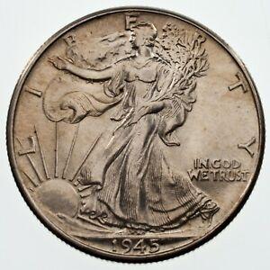 1945 50C Walking Liberty Half Dollar, Choice BU Condition, Nice Eye Appeal