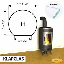 Funkenschutzplatte & Glasbodenplatte   Kaminbodenplatte   I1 Klarglas   Temprix