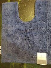 "Wamsutta Ultra Fine 20""x24"" Contour Toilet Bath Mat Rug Denim Blue NEW Cotton"