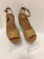 Women's Kenneth Cole Reaction Camel Platform Wedge Sandal Ankle Strap 7M