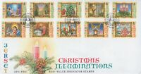 JERSEY CHRISTMAS ILLUMINATIONS NON-VALUE INDICATOR STAMPS 2004 FIRST DAY COVER