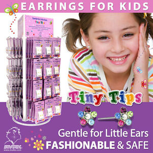 Studex Tiny Tips Childrens Sensitive Stud Earrings Sterilized Alergy Free Studs