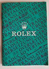 Rolex 16520 16750 5513 1680 vintage genuine booklet Translation Rolex 1986