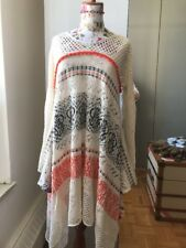 Anthropologie Sleeping on Snow Swing Sweater Knit Dress Crocheted