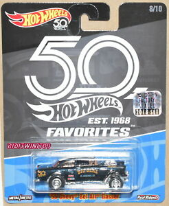 HOT WHEELS 50th FAVORITES '55 CHEVY BEL AIR GASSER BLACK RLC FACTORY SEALED W+