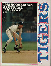 Detroit Tigers 1981 Score Book and Offical Program