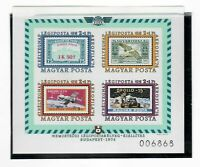 s21441) HUNGARY 1974 MNH** Aerofila s/s IMPERFOTATED