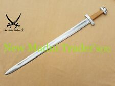 "38"" HIGH CARBON STEEL DOUBLE SHADE WIRE WRAP HANDLE VIKING SWORD"