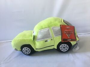 "Disney Store Exclusive Pixar CARS 2 Acer Pacer 8"" Plush Bean Bag Doll Toy NEW"