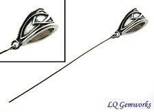 3 each LG Sterling Silver Pendant Bail w/ Eye pin /E29
