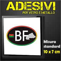 BURKINA FASO Drapeau Flottant BURINABE Ex Upper Volta 75mm Sticker Autocollant