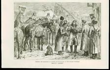 1887 -  UKRAINE NOVOSELYTSIA RUSSIAN FRONTIER HORSE TRANSPORTATION ARMY (116B)