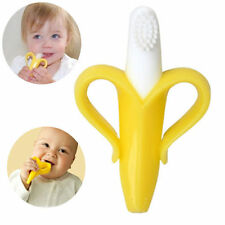 Silicon Baby Training Toothbrush Bendable Banana Teether Infant Toddler Massager