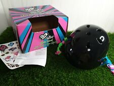 Rio Roller Skate Helmet With Built In Size Adjuster Size L/XL Black