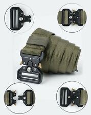 New Mens Heavy Duty Tactical Military Soldier Combat Training Quick Release Belt
