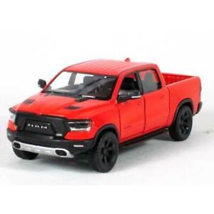 "5"" Die-cast: 2019 RAM 1500 Pickup Truck (Red) 1/46 Scale"
