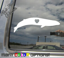Blue Whale - Baleen Auto Window Wall High Quality Vinyl Decal Sticker 01060