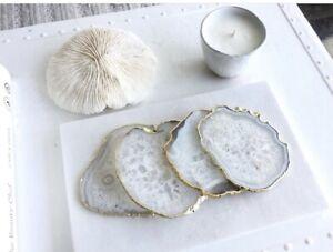 White Natural Agate Stone Coaster