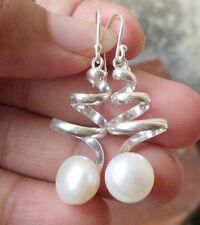 Pearl Drop/Dangle Sterling Silver Handcrafted Earrings
