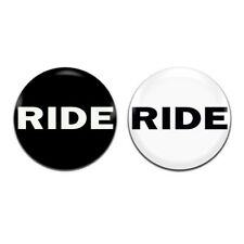 2x Ride Band Rock Shoegaze 25mm / 1 Inch D Pin Button Badges