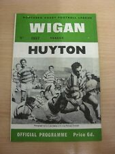 31/08/1968 Rugby League Programme: Wigan v Huyton  (Team Changes). Thanks for ta
