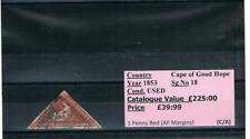1853 - Cape of Good Hope - SG 18 -1d Red - Used