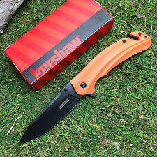 Kershaw Barricade Assisted Open 8Cr13MoV Orange Handle Emergency Knife 8650 New!