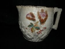 "ANTIQUE ETRUSCAN ALBINO SHELL & SEAWEED PITCHER 5"" T majolica"