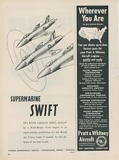 1953 Vickers Armstrongs Ad British Royal Air Force Submarine Swift Jet Fighter