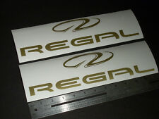 """Regal Boats Gold Decal 12"""" Stickers (Pair)"""