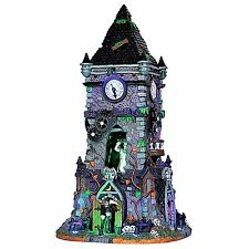 Lemax 35531 HAUNTED CLOCK TOWER Spooky Town Building Sights & Sounds Decor I