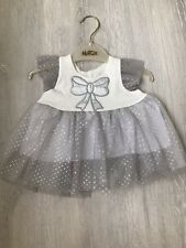 Baby Girl Ivory Christmas Dresses 6-12 Months Bridesmaid Flower Clothes Outfit