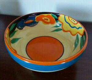Fantasque Clarice Cliff 3 Footed Bowl (Wilkinson).