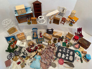 Vintage Furniture Dolls Smalls Dishes Etc Dollhouse Miniature 1:12