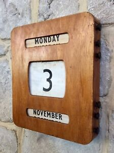 Antique Large Early 1900s Wooden Perpetual Calendar,Office,ART DECO,Original,Old
