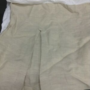 Pottery Barn Pleated Button Bed Skirt Dust Ruffle CAL KING Linen Natural 18 Drop
