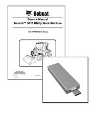 Bobcat Toolcat 5610 Utility Work Machine Workshop Service Manual USB Stick + DL