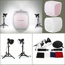 Kit studio fotografico set Box di flashlight softbox 60*60 cm con 4 x fondi